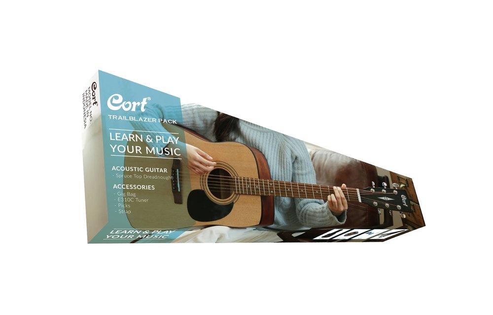 Cort CAP810 Trailblazer Pack - Cort AD810 Open Pore Acoustic Guitar w/ Accessories