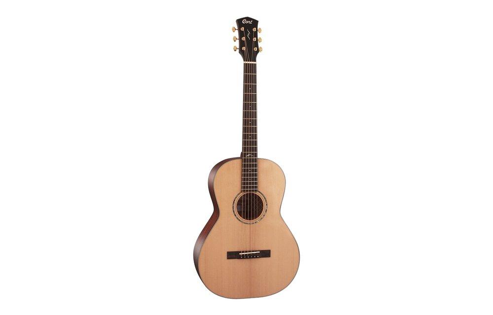 Cort Gold-P6 Natural Gloss Parlour Acoustic Guitar w/Case