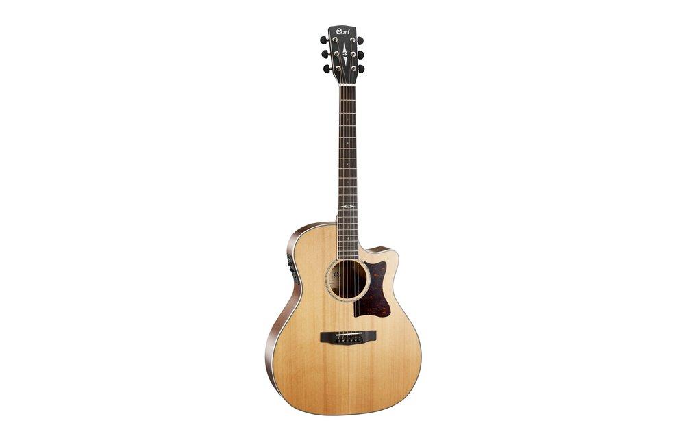 Cort GA5F-BW Natural Satin Blackwood/Cedar Grand Auditorium Electric Acoustic Guitar