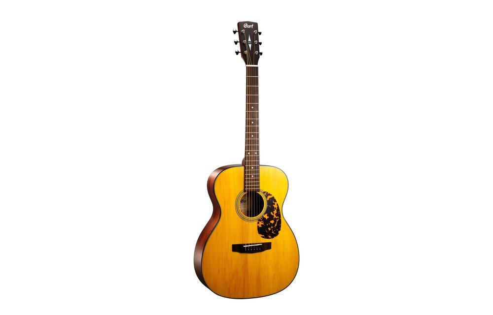 Cort L300VF Natural Vintage Gloss OM Size Electric Acoustic Guitar