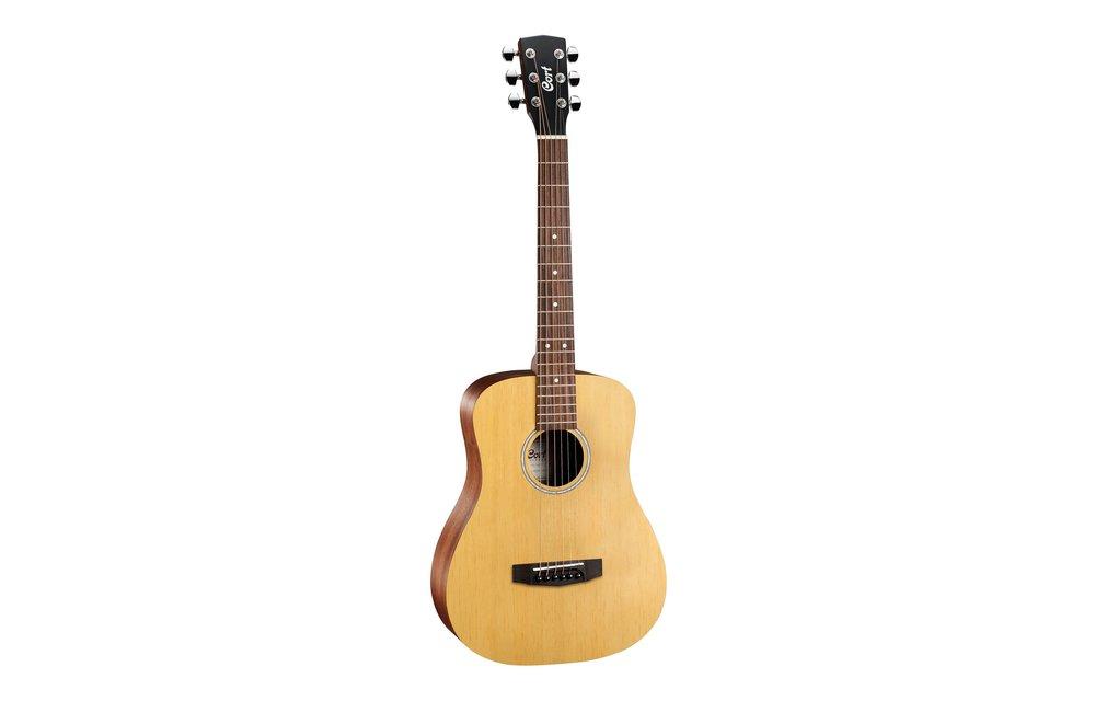 Cort AD Mini Open Pore Mini Dreadnought Acoustic Guitar w/Gig Bag