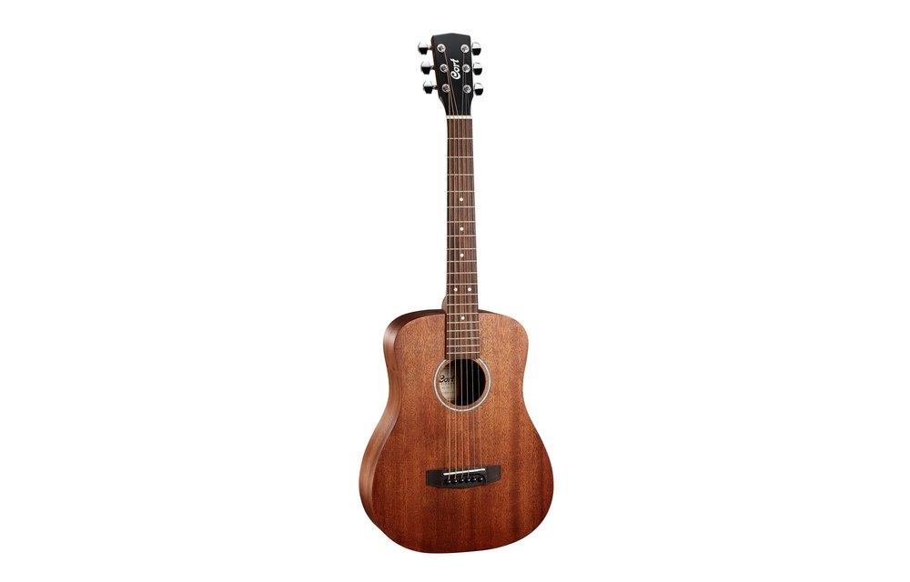 Cort AD Mini Open Pore Mahogany Mini Dreadnought Acoustic Guitar w/ Gig Bag