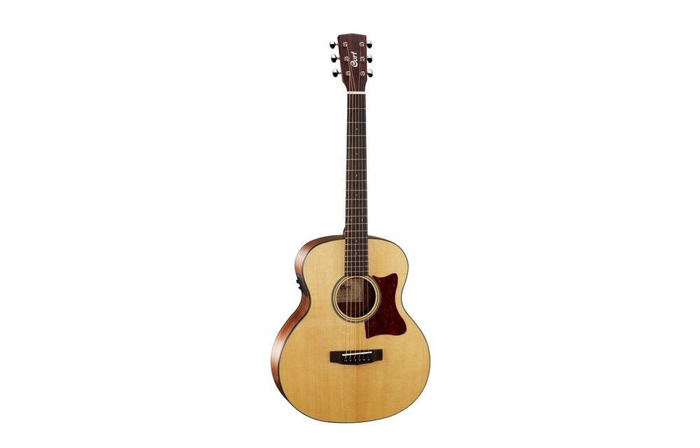 Cort Little CJ, 3/4 Size Jumbo, Electric Acoustic Guitar, Walnut