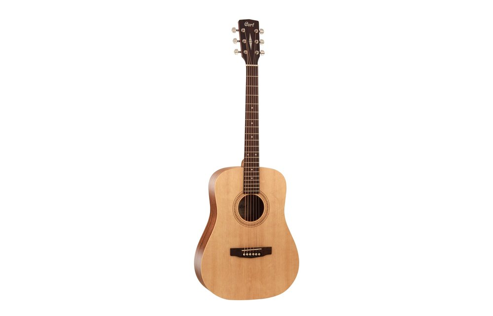 Cort Earth50, 7/8 Size Spruce/Mahogany Dreadnought Acoustic Guitar, Open Pore Natural