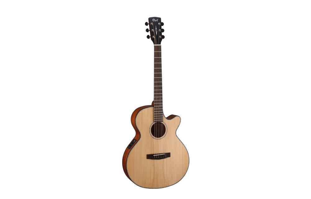Cort SFX-E, Spruce Slim Body, Electric Acoustic Guitar, Natural Satin