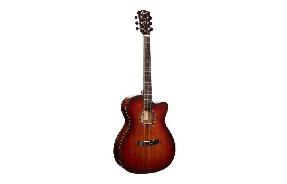 Cort Core-OC All Blackwood OM Size w/Cutaway, Electric Acoustic Guitar, Open Pore Light Burst