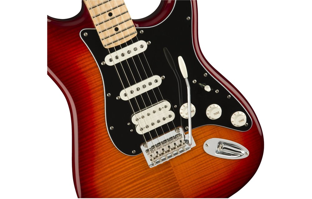 Fender Player Stratocaster HSS Plus Top, Maple Fingerboard, Aged Cherry Burst
