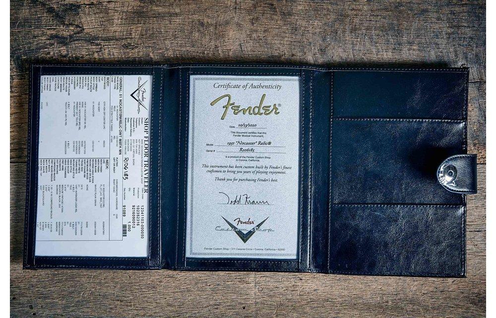 Fender Custom Shop Custom '51 Nocaster, Relic, Faded Olympic White, Masterbuilt Todd Krause