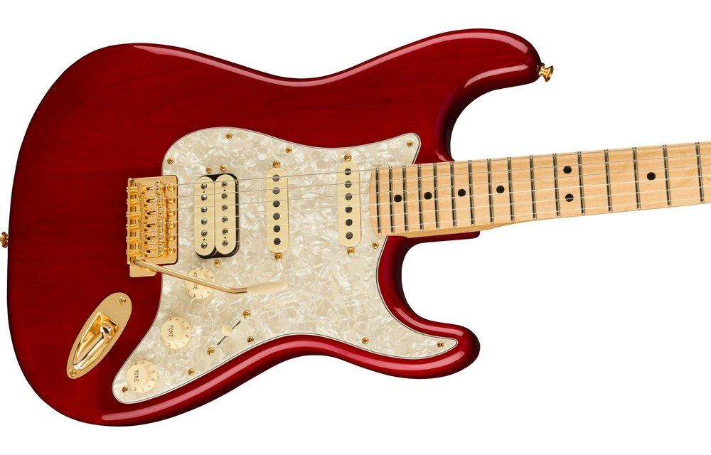 Fender Tash Sultana Stratocaster, Maple Fingerboard, Transparent Cherry
