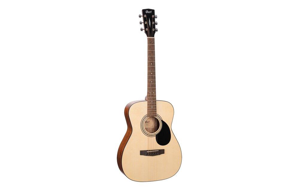 Cort AF510 Spruce/Mahogany Concert Acoustic Guitar, Open Pore