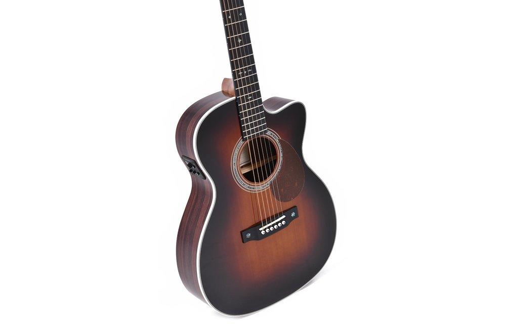 Sigma OMTC-1E-SB Cutaway Electric Acoustic Guitar, Sunburst