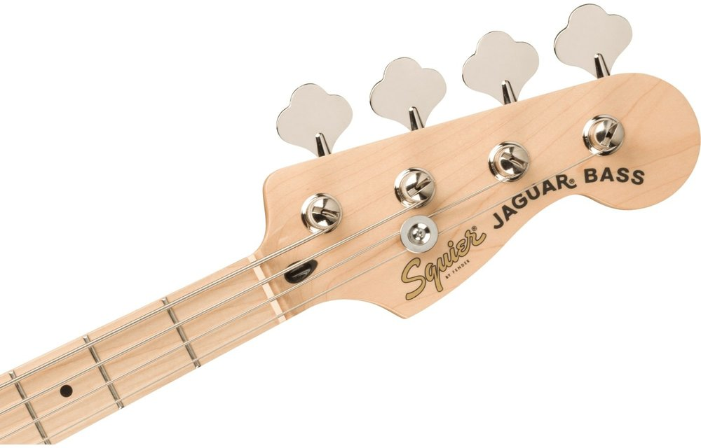 Squier Affinity Series Jaguar Bass H, Maple Fingerboard, White Pickguard, Lake Placid Blue