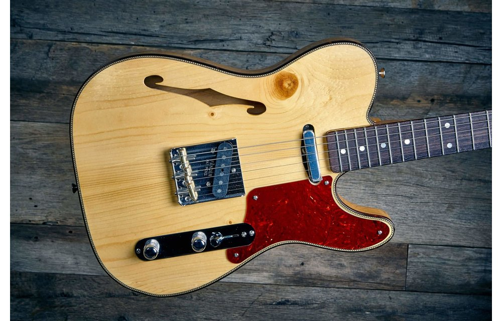 Fender Custom Shop Telecaster Thinline, Limited Edition Knotty Pine, Aged Natural