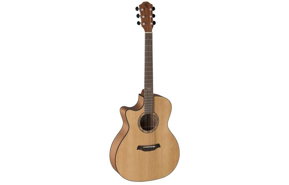 Baton Rouge AR11C/ACE-L Cedar/Mahogany Auditorium Electric Acoustic Guitar w/Cutaway, Left Handed