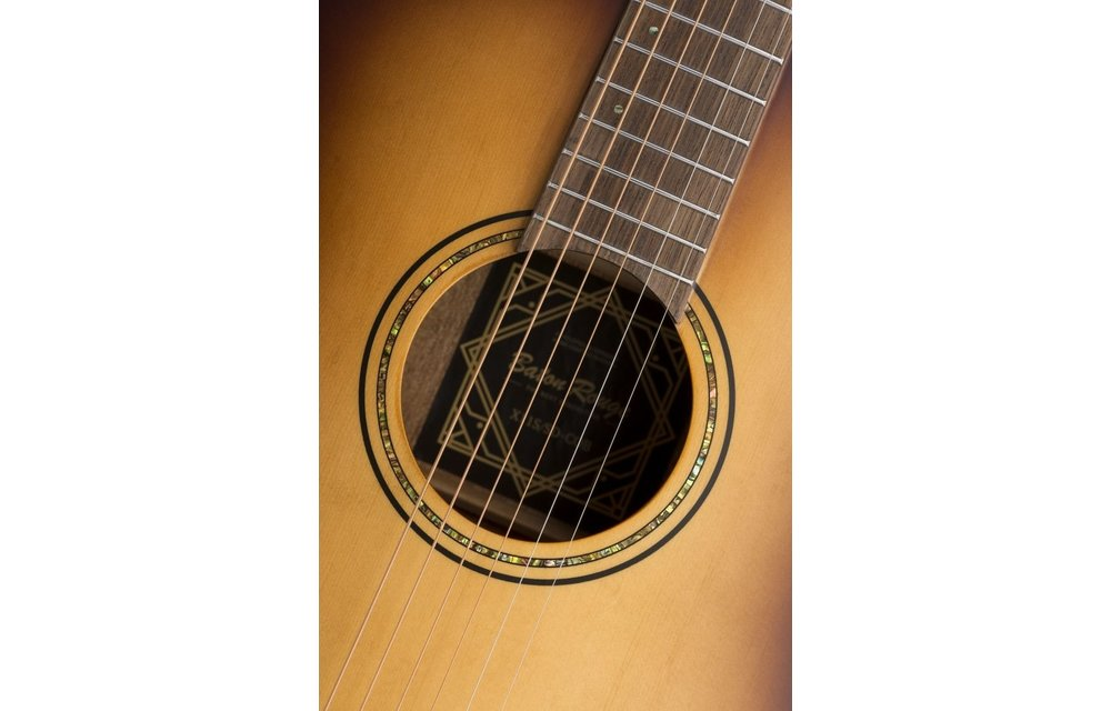 Baton Rouge X11S/SD-COB Spruce/Mahogany Slope Shoulder Dreadnought Acoustic Guitar, Coffee Burst Satin