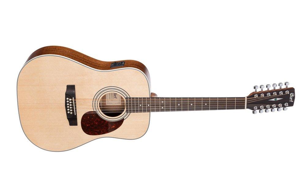 Cort Earth70E-12 Open Pore 12-String Dreadnought Electric Acoustic Guitar