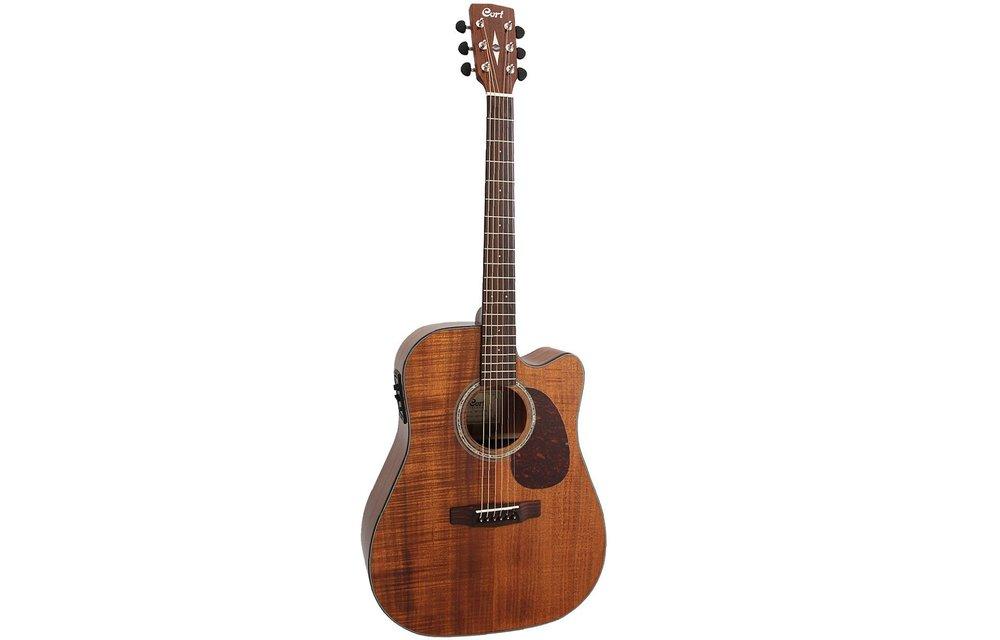 Cort MR710F All Blackwood Dreadnought Acoustic Guitar w/Cutaway, Open Pore Natural