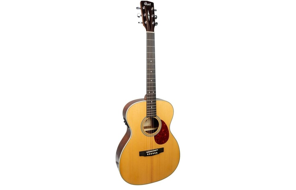 Cort L100-OF Natural Satin Blackwood/Spruce Electric Acoustic Guitar w/ Gig Bag