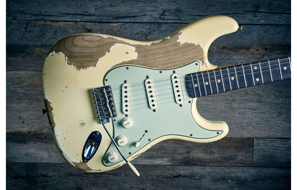 Fender Custom Shop Limited Edition 60s Dual-Mag II Stratocaster, Super Heavy Relic, Aged Vintage White