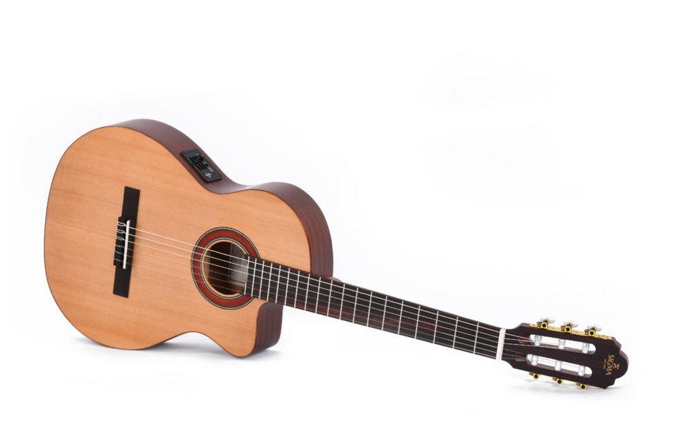 Sigma CTMC-2E Electric Classical Guitar w/Cutaway