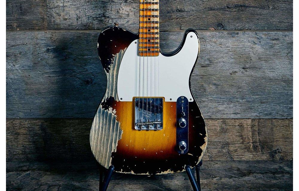 Fender Custom Shop Limited Edition 50's Pine Esquire, Super Heavy Relic, Super Faded, Aged, Wide Fade 2-Colour Sunburst