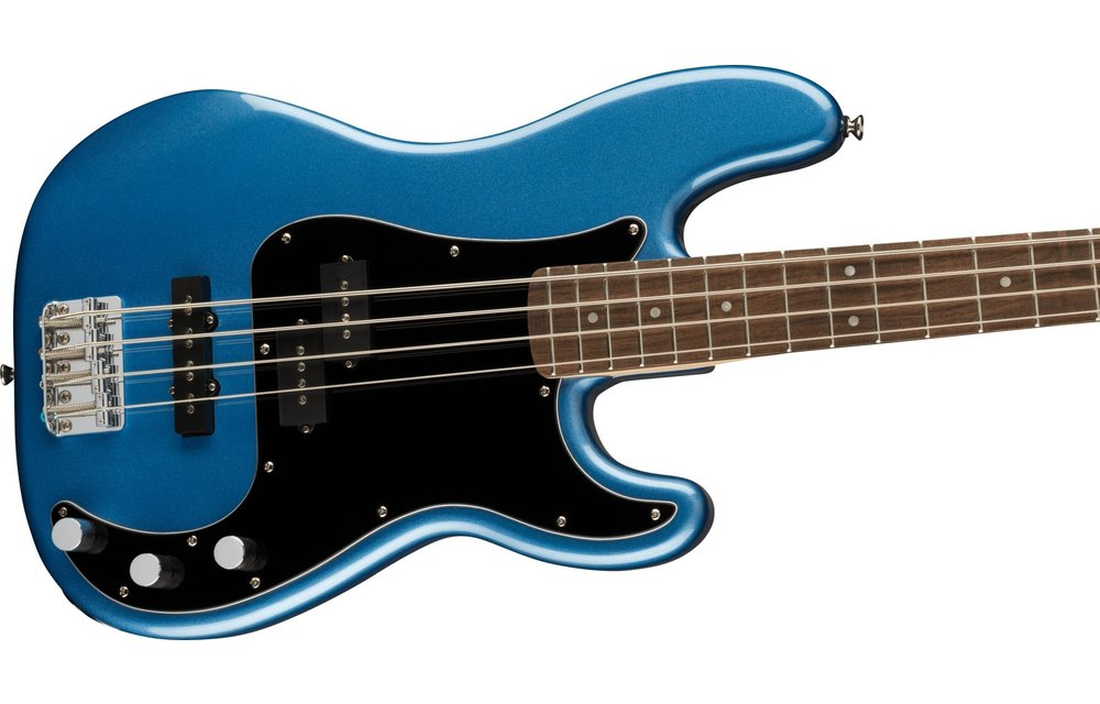 Squier Affinity Series Precision Bass PJ, Laurel Fingerboard, Black Pickguard, Lake Placid Blue
