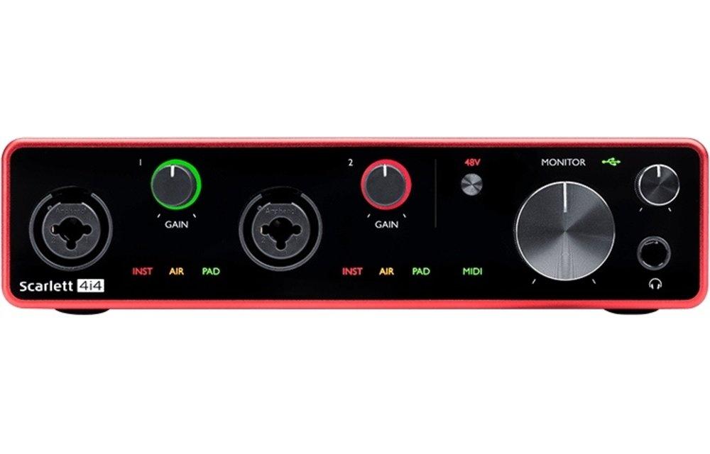 Focusrite Scarlett 4i4 (Gen 3) 4-In / 4-Out USB Audio Interface