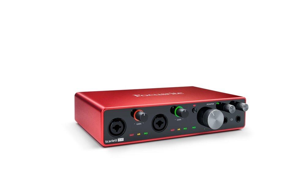 Focusrite Scarlett 8i6 (Gen 3) 8-In / 6-Out USB Audio Interface