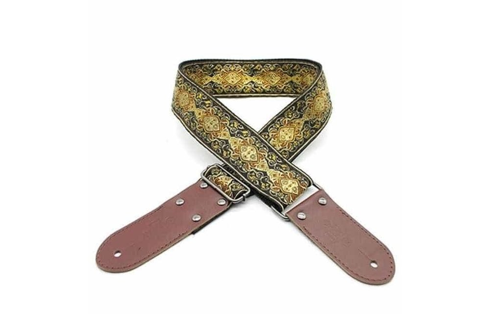 DSL Guitar Strap, Jacquard Weaving, APR Gold