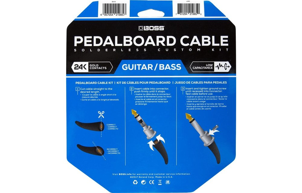 Boss Pedalboard Solderless Cable Kit