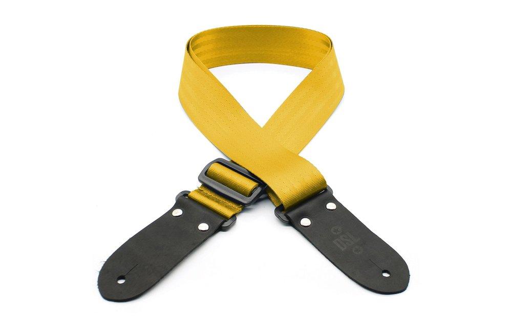 DSL Guitar Strap, Seat Belt Webbing, Gold
