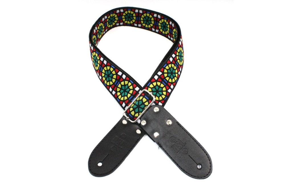 DSL Guitar Strap, Jacquard Weaving, SG Green