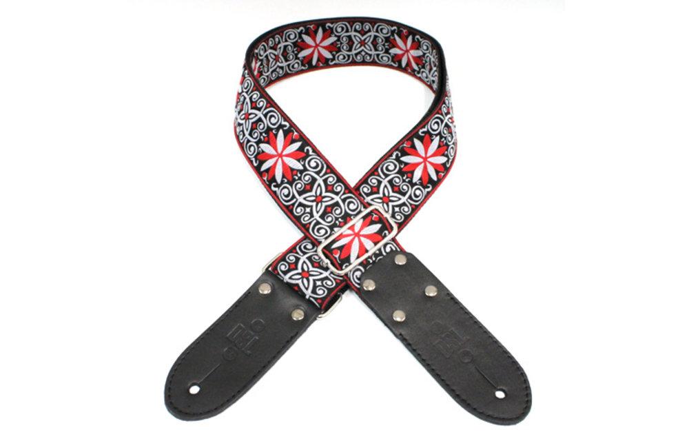 DSL Guitar Strap, Jacquard Weaving, Red Angel