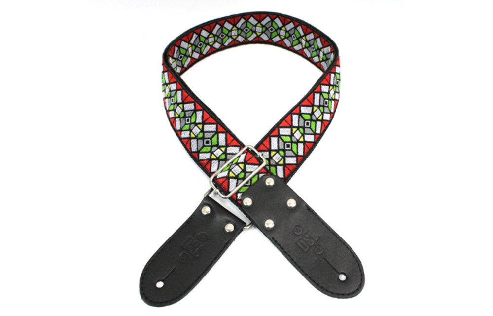 DSL Guitar Strap, Jacquard Weaving, Haze Red