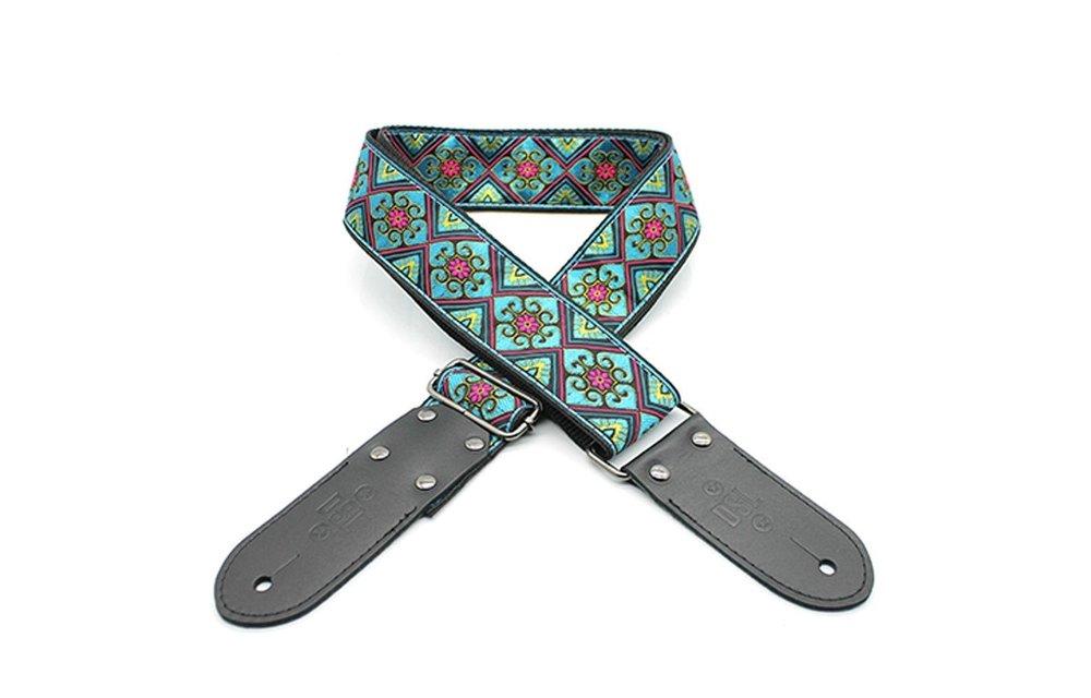 DSL Guitar Strap, Jacquard Weaving, Babylon Blue