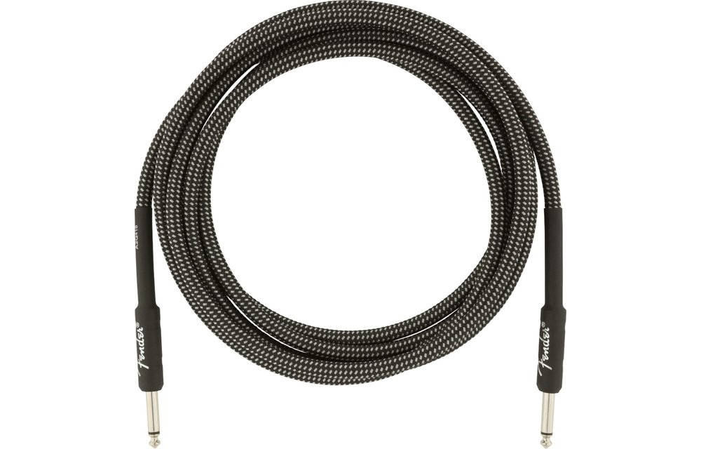 Fender Professional Series Instrument Cables, 10', Grey Tweed
