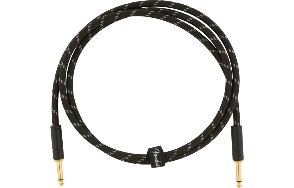 Fender Deluxe Series Instruments Cable, Straight/Straight, 5', Black Tweed