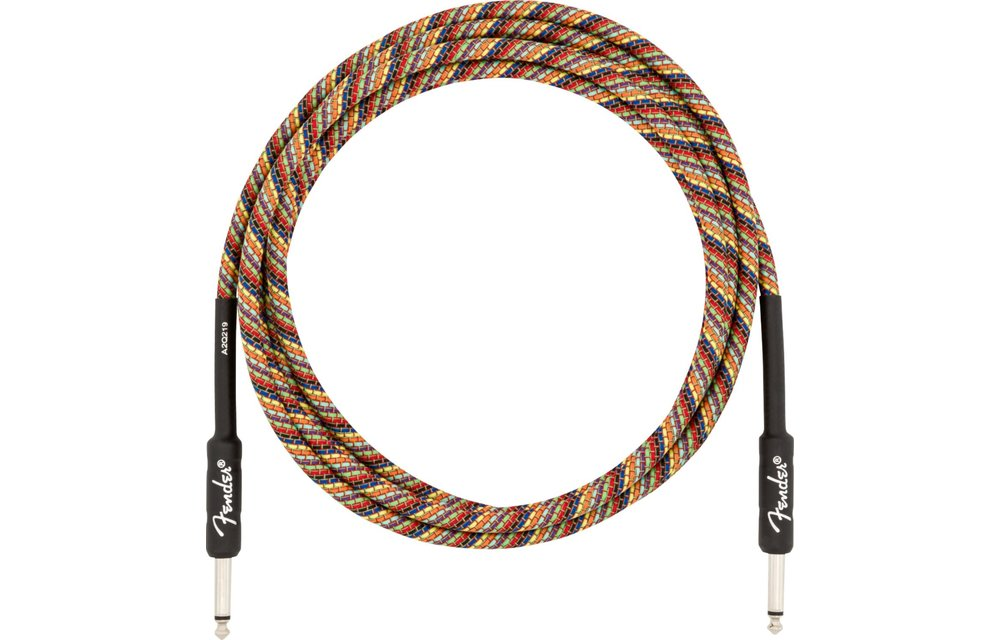 Fender 10' Festival Instrument Cable, Pure Hemp, Rainbow