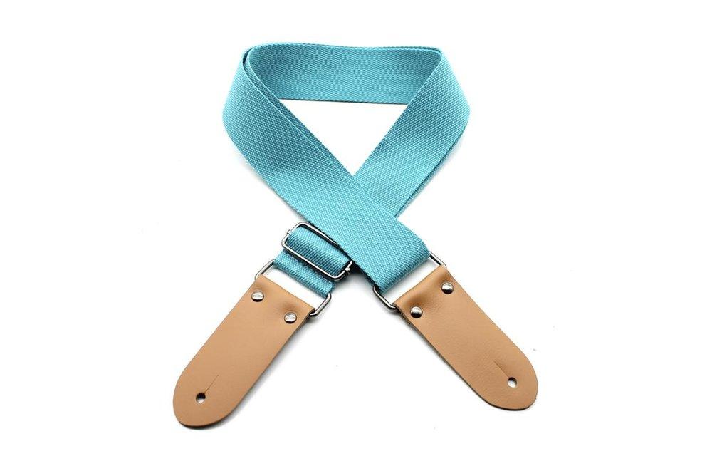 DSL Ukulele Strap, 50mm Cotton, Light Blue