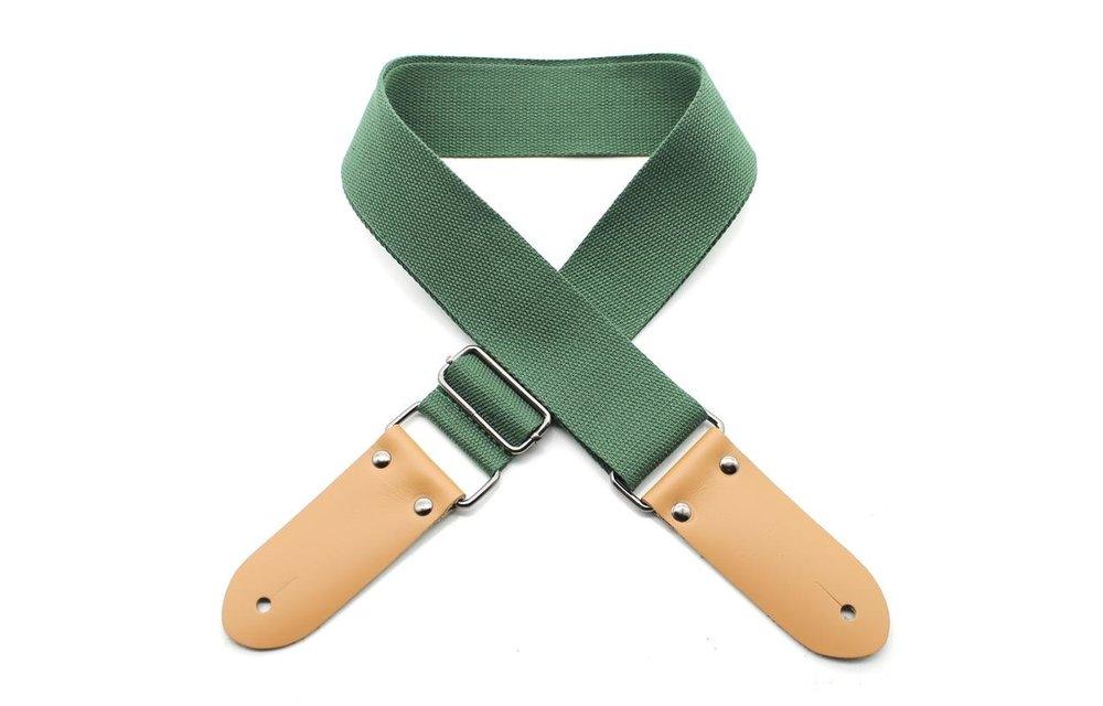 DSL Ukulele Strap, 50mm Cotton, Green