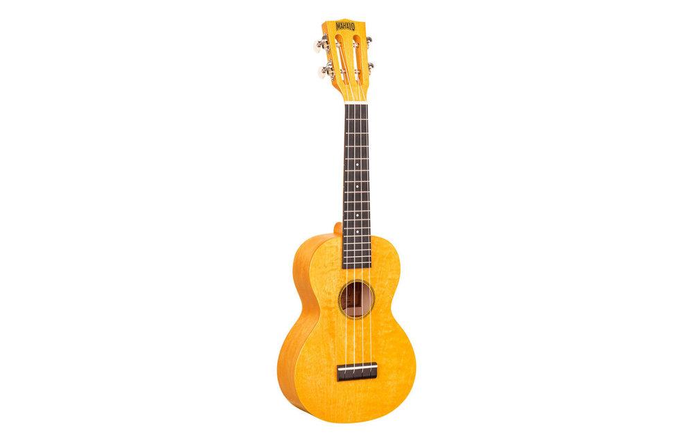 Mahalo Island Series Concert Ukulele, Sunflower w/Gig Bag