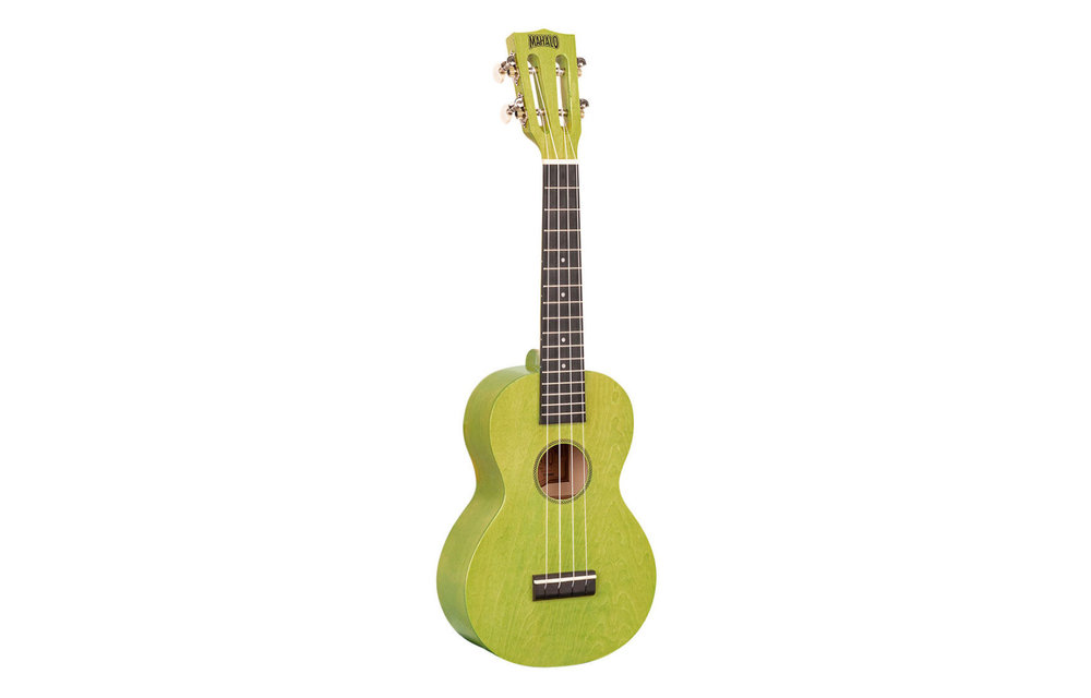 Mahalo Island Series Concert Ukulele, Sea Green w/Gig Bag