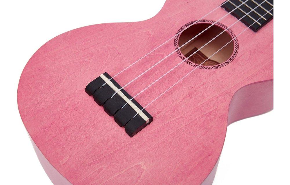 Mahalo Island Series Concert Ukulele, Coral Pink w/Gig Bag