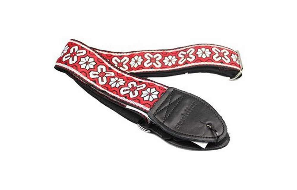 Souldier Guitar Strap, Greenwich Red and White