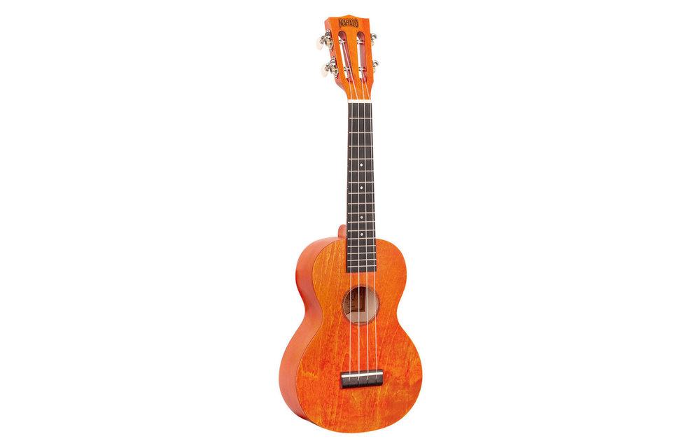 Mahalo Island Series Concert Ukulele, Orange Sunset w/Gig Bag