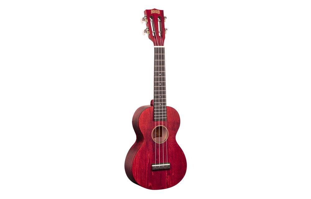 Mahalo Island Series Concert Ukulele, Cherry Red w/Gig Bag
