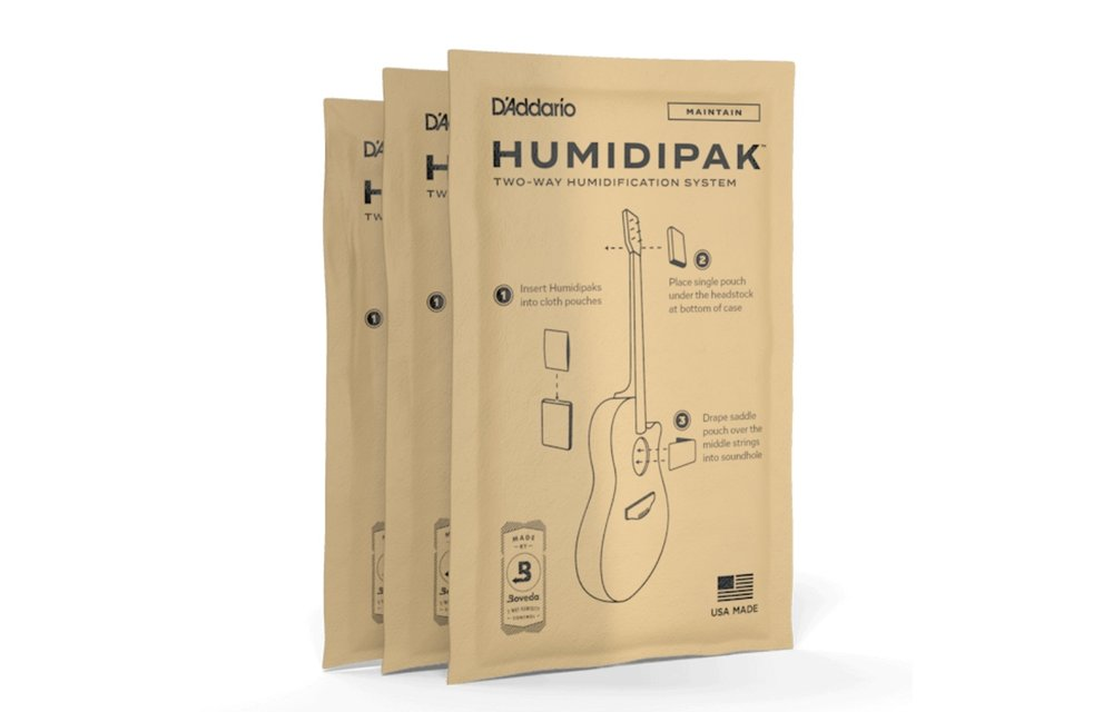 D'Addario Humidipak Maintain - Conditioner Packet Replacement 3-Pack