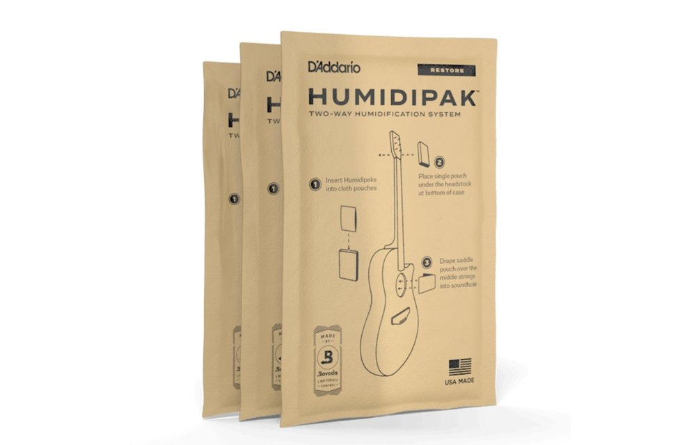 D'Addario Humidipak Restore - Conditioner Packet Replacement 3-Pack