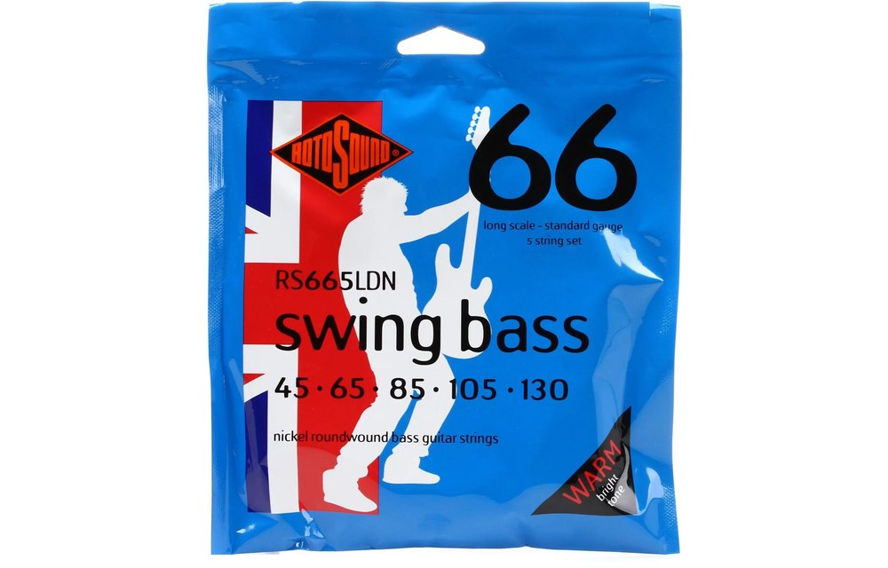 Rotosound RS66LDN Swing Bass 66, Nickel Round Wound Bass Strings, 45-105