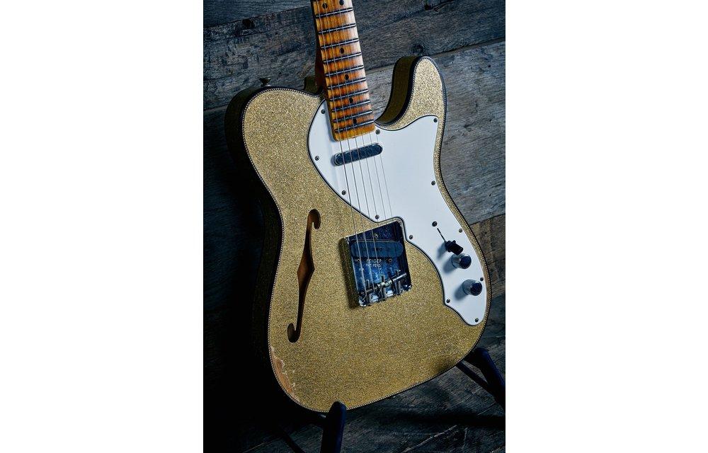 Fender Custom Shop Fender Custom Shop Telecaster Thinline, Limited Edition 60s Custom Relic, Aged Gold Sparkle